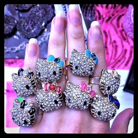 6e747f98a Artisans Korner Jewelry | 3 Rings For 5 Hello Kitty Bling Rings ...